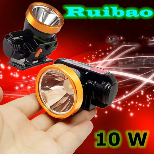 Foto Produk Senter Kepala Headlamp Super LED 10W / Senter Kepala Anti Air dari RUIBAO