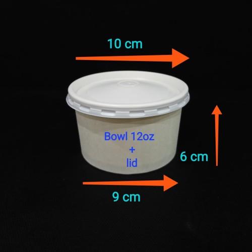 Foto Produk Paper bowl 12oz + lid. dari twees