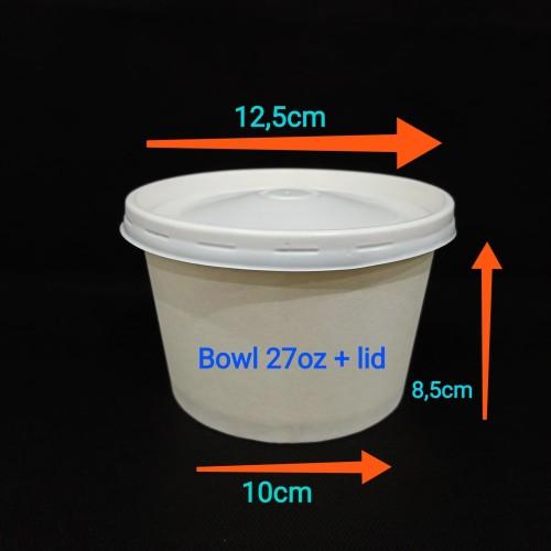 Foto Produk Paper bowl 27oz + lid. dari twees