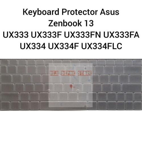 Foto Produk Keyboard Protector Asus Zenbook 13 UX333 UX333F UX333FA UX333FN UX334 - Hitam dari Beji Depok Store