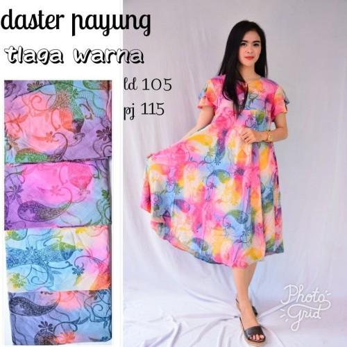 Foto Produk Daster payung telaga warna klok batik dada kancing bumil busui bahan a dari DEPIZA SHOP