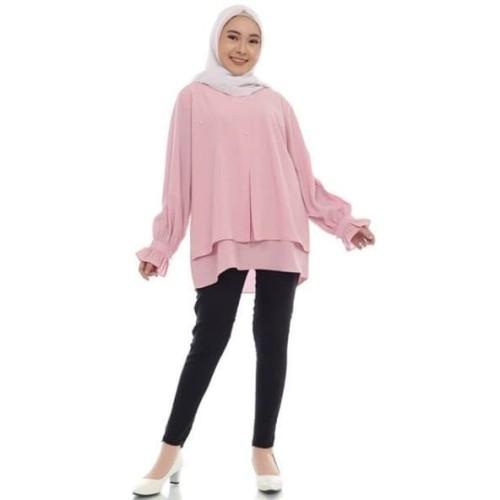 Foto Produk Blouse Alika - Merah Muda dari Rhani Collection