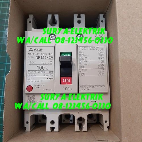 Foto Produk mccb mcb mitsubishi nf 125 cw 100a 100 A NF125CW 3p breaker mitsubishi dari SURYA-ELEKTRIK