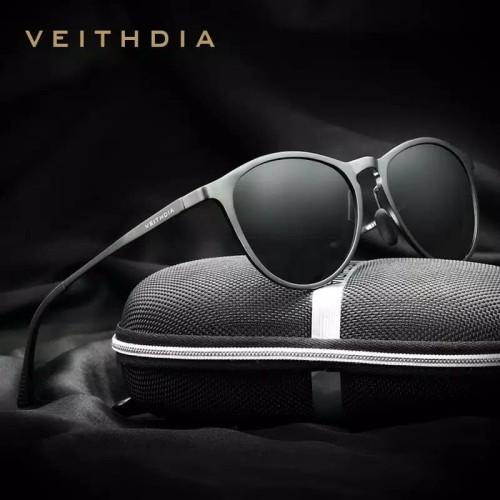 Foto Produk VEITHDIA kacamata Retro Aluminum Magnesium Sunglasses Polarized 6625 - Hitam, Minus dari chobuy
