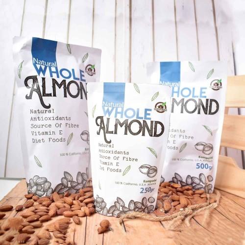 Foto Produk WS Natural Whole Almond ( Kacang Almond Natural ) 500 Gr dari House Of Organix
