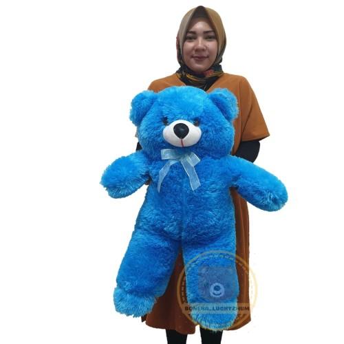 Foto Produk boneka beruang panda teddybear xl tinggi 60cm - Biru dari luckyzhum toys