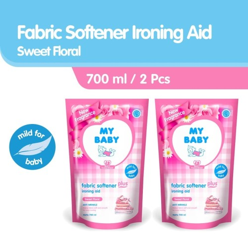 Foto Produk My Baby Fabric Plus Ironing Aid Sweet Floral Softener [700 mL/2 pcs] dari Tempo Store Official