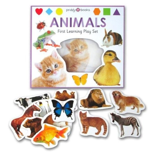 Foto Produk First Learning ANIMALS Play Set (Book + Puzzle) dari HappyBunnyBooks