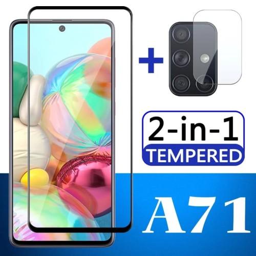 Foto Produk Tempered Glass Samsung A71 + Tg Anti Gores Lensa Camera pelindung dari Putra Jakfar ACC