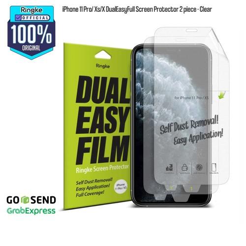 Foto Produk Ringke iPhone 11 Pro / Xs / X DualEasyFull Screen Protector 2 piece dari Official Ringke Partner