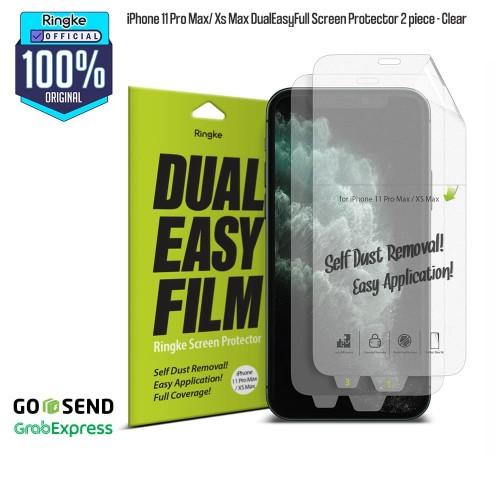 Foto Produk Ringke iPhone 11 Pro Max / Xs Max DualEasyFull Screen Protector 2 pcs dari Official Ringke Partner