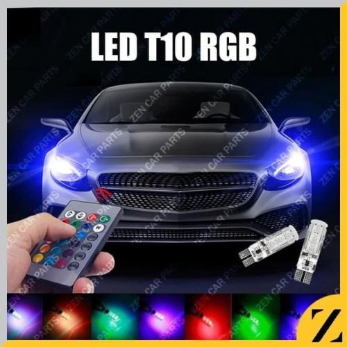 Foto Produk LAMPU LED T10 MOBIL MOTOR RGB 6 MATA JELLY ISI 2PCS + REMOTE E051 dari Zen Car Parts