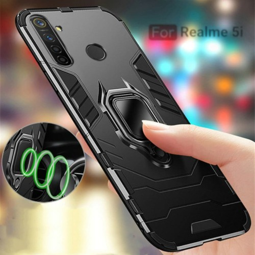 Foto Produk REALME 5i TRANSFORMER RING HARD SOFT CASE MAGNETIC COVER CASING OPPO dari Markas acc 88