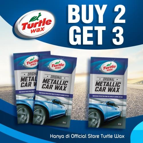 Foto Produk Turtle Wax Metallic Sachet Buy 2 Get 3 Pengkilap Body Mobil Motor dari Turtle Wax