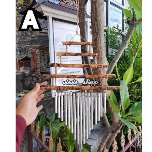 Foto Produk Lonceng Angin/ Lonceng Bambu / Genta Angin Bambu Susun - Coklat kecil dari Vievie_shopp