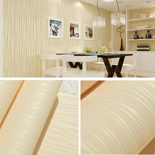 Foto Produk Polos kuning tekstur salur 45 cm x 10 mtr ~ Wallpaper sticker dinding dari Wallpaper Bosku
