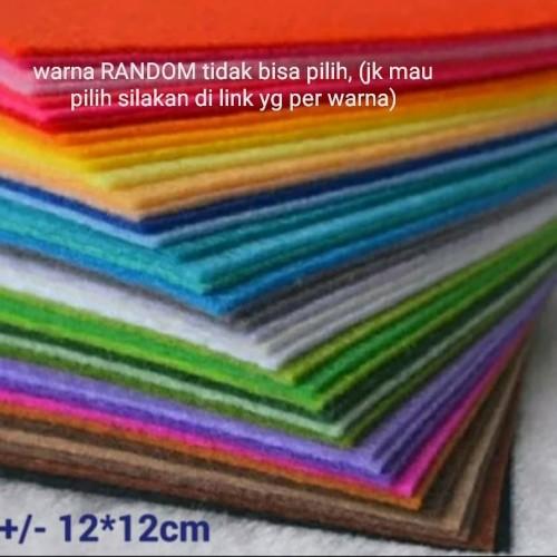 Foto Produk Kain Perca Flanel (10 Warna/set) Random dari Hans and Me
