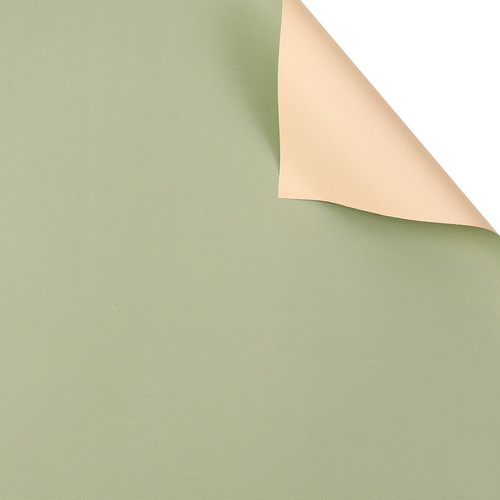 Foto Produk FLOWER WRAPPING BI COLOR CELLOPHANE KERTAS BUNGA WATERPROOF(ECER) NO.1 - OliveCream dari Dandelion Floral Wrap