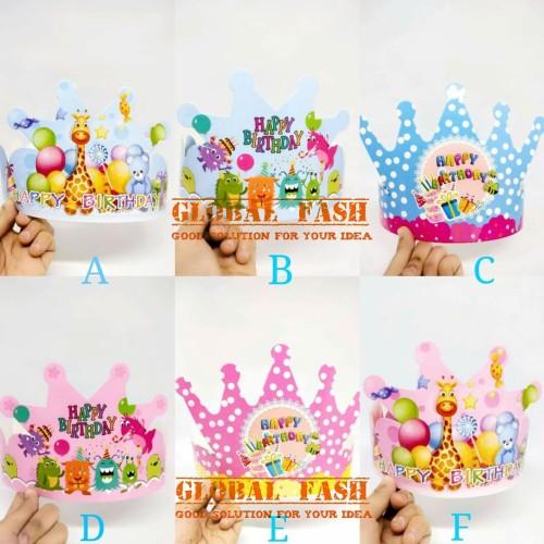 Foto Produk topi happy birthday mahkota / topi ultah anak / topi ulang tahun dari Global Fash