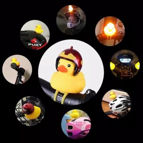 Foto Produk Bell Sepeda Anak Bebek Duck Helm With Lampu Led Kirim Random dari rubic wear