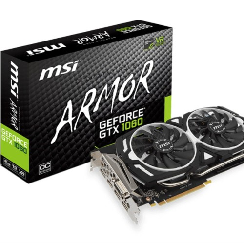Foto Produk MSI GeForce GTX 1060 6GB DDR5 - Armor 6G OC V1 spare part dari kyramashop