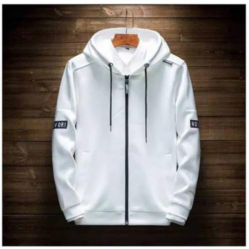 Foto Produk Jaket Pria Jaket Wanita Hoodie Now Or Pria Jaket Reglan Sweater Trendy - Putih dari Ung Sira Store