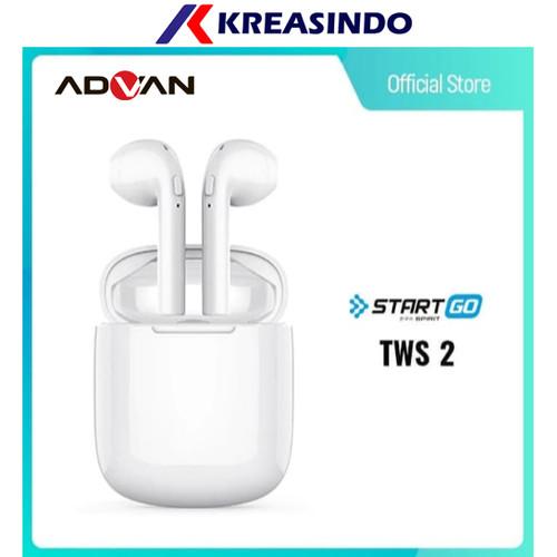 Foto Produk Advan Start Go TWS 2 Earbuds Earphone Wireless Bluetooth Garansi Resmi - Putih dari Kreasindo Online