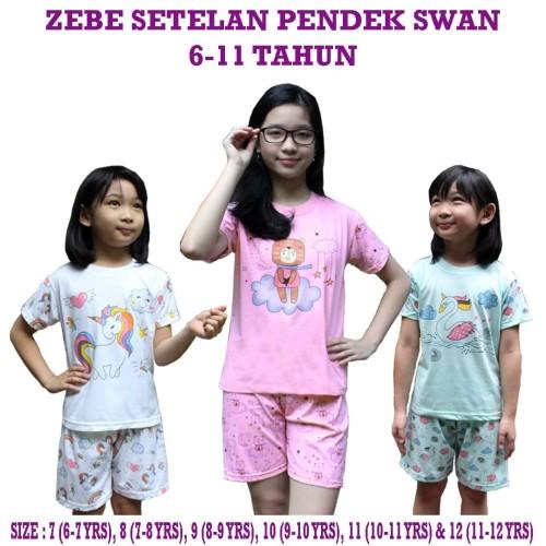 Foto Produk Zebe Setelan Pendek Swan Edition By. Kazel Group - Uk 7 dari Kazel Babywear