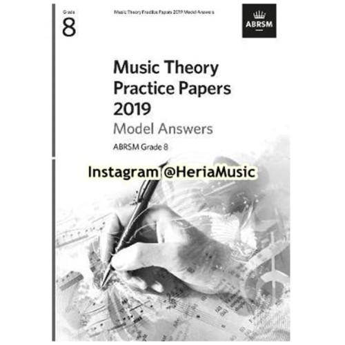 Foto Produk Music Theory Practice Papers 2019 Model Answers, ABRSM Grade 8 dari HERIA MUSIC