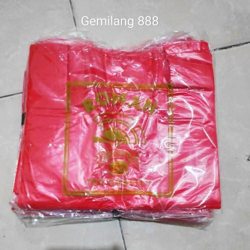 Foto Produk HD merah tipis uk 28   Kantong plastik kresek merah tipis dari Gemilang 888
