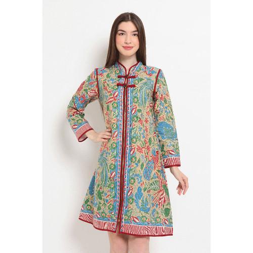 Foto Produk Cindy Dress D0149, Baju Dress Batik wanita modern Nona Rara Batik - S dari Nona Rara Batik