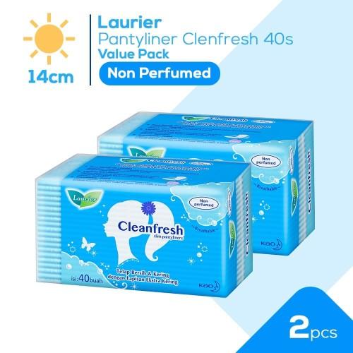 Foto Produk Laurier Pantyliner Cleanfresh 40S Non Perfume Value Bundle dari KAO Official Store