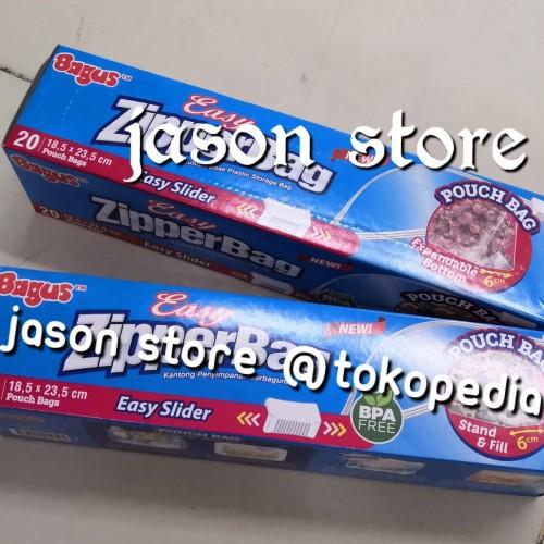 Foto Produk Zipperbag Bagus 20 cm 18,5 x 23,5 cm/pouch bag Bagus easy zipperbag dari Jason Store 21