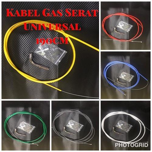 Foto Produk Kabel gas serat matic thailand plus L gas cnc - Putih dari gudang variasi mtr