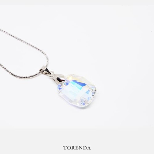 Foto Produk Torenda Kalung Liontin Graphic Pendant with Swarovski - Crystal dari TORENDA
