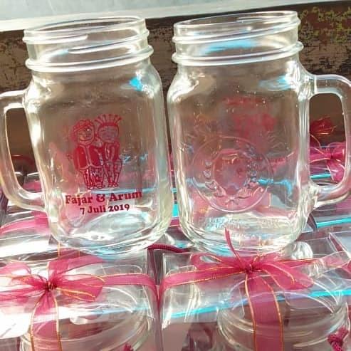 Foto Produk souvenir gelas jar sablon custom dari Thara souvenir
