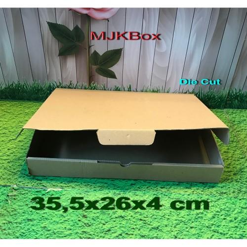 Foto Produk Kotak Kardus Karton Uk. 35,5x26x4 cm .........Die Cut dari MJKbox