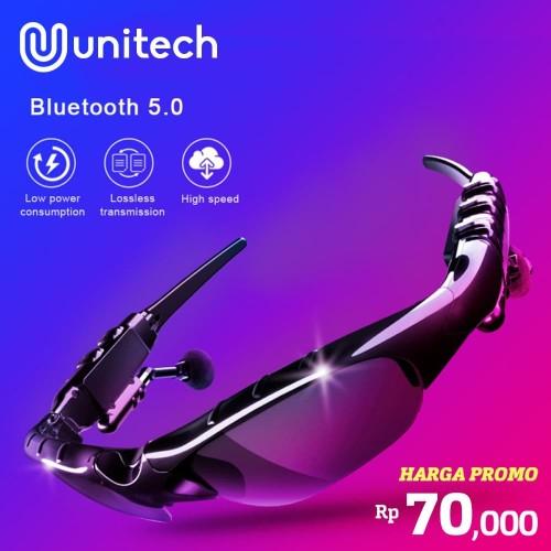 Foto Produk Kacamata Stereo Wireless Bluetooth Mp3 - MP3 Sunglasses With Bluetooth - Hitam dari Unitech Official