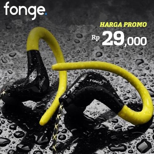 Foto Produk Fonge Headset S760 Earphone Sport with Microphone Super BASS Original - Hitam dari Unitech Official