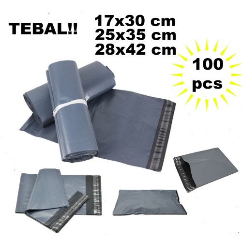 Foto Produk TERMURAH 25x35 HITAM polymailer packing bag amplop plastik bungkus dari Urban Collections