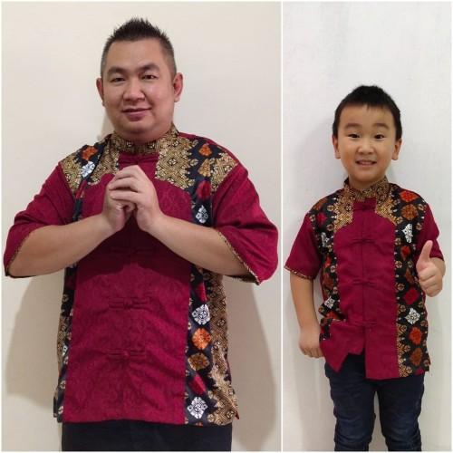 Foto Produk Couple baju cina batik imlek lengan pendek faldo ayah anak dari Angelsammy shop