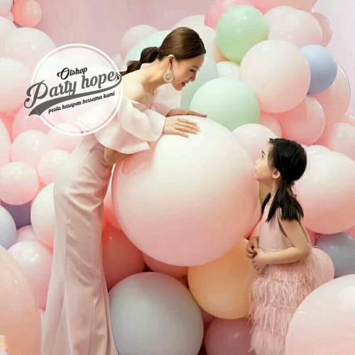 Foto Produk balon latex macaron jumbo / balon doff pastel dekorasi macaron 18 inch - Kuning dari PARTY HOPE 2
