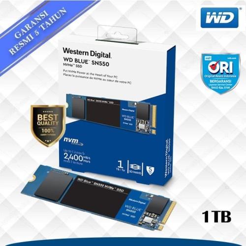 Foto Produk SSD WD Blue 1TB SN550 M.2 NVMe dari WD Official Store