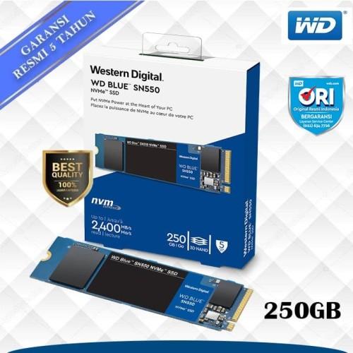Foto Produk Promo SSD WD Blue 250GB SN550 M.2 NVMe dari WD Official Store
