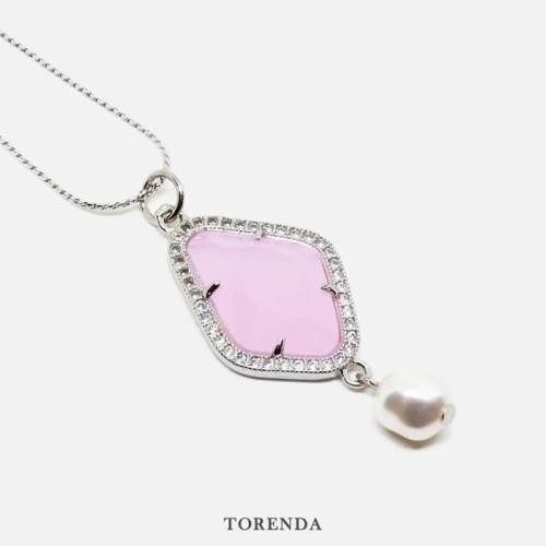 Foto Produk Torenda Soulmate Confession Pendant Baby Pink Kalung Wanita dari TORENDA