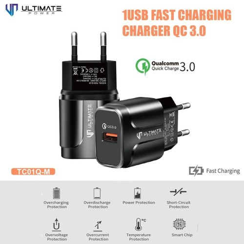 Foto Produk PROMO Ultimate Power Charger TC01Q-M 1USB Fast Charging QC 3.0 dari Ultimate Power Official