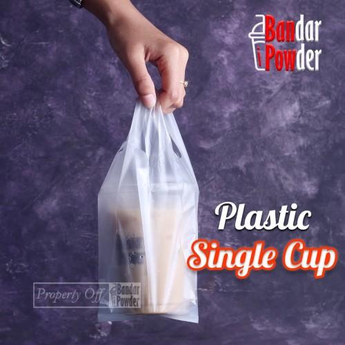 Foto Produk Plastik Single Cup 1 Pack - Kemasan Kresek Take Away Untuk 1 Gelas dari Bandar Powder Tangerang