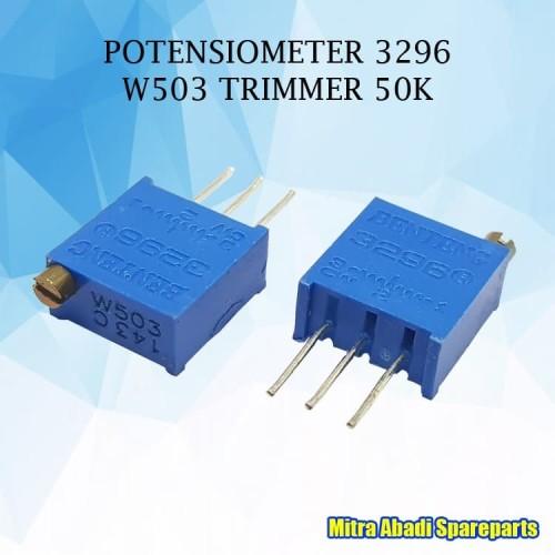 Foto Produk Potentiometer Potensiometer 3296W 3296 W503 Trimmer 50K Ohm dari Mitra Abadi Spareparts