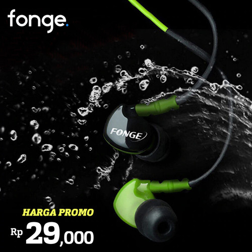 Foto Produk Fonge Headset S500 HIFI Earphone Sport with Microphone - Hitam dari Unitech Official
