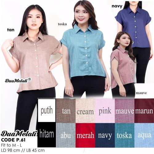 Foto Produk Baju Atasan wanita blouse kemeja kerja wanita baju wanita jumbo P61 dari dua melati